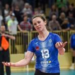Leiser Abschied: Shannon Dugan kehrt nicht nach Wiesbaden zurück. Ob der VCW in der nächsten Saison überhaupt noch Bundesliga spielt, ist derzeit ungewiss. Foto: rscp/Corinna Seibert