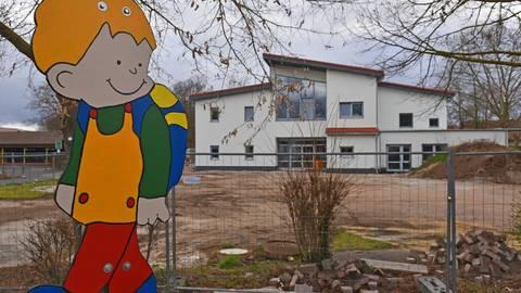 """Die neue Kindertagesstätte """"Flitz Kids II"""" in der Freiherr-vom-Stein-Straße 5 soll nach den Sommerferien in Betrieb gehen. Foto: Krupp"""