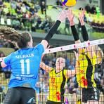 Frauke Neuhaus könnte gegen den MTV Stuttgart wieder im Außenangriff spielen. Archivfoto: Detlef Gottwald