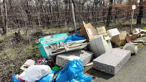 Illegale Sperrmüllablagerungen – wie hier an der Schrägseilbrücke – kommen in Raunheim immer wieder mal vor. Foto: Michael Kapp