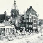 Oben die Wallaustraße, rechts der Frauenlobplatz und hinten das Rabanus-Maurus-Gymnasium um 1947. Foto: Sammlung Michael Bermeitinger