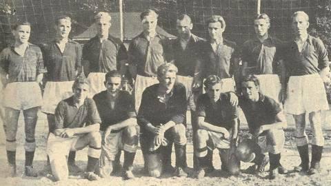 Die neuformierte Studentennationalmannschaft im Jahr 1948. Foto: Archiv/von Berg