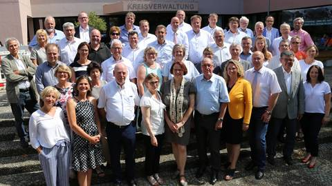 Der neue Kreistag für die kommenden fünf Jahre – zur Hälfte gespickt mit neuen Gesichtern. Foto: Kreisverwaltung