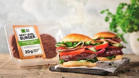"""Mit dem """"Next Level Burger"""" will Lidl die Nachfrage nach veganen Burgern bedienen.  Foto: Lidl"""