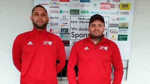 Mario Balzer (r.) und Ümit Kurudere bilden kommende Saison das Trainerduo bei der SG Friedensdorf/Allendorf.  Foto: SG Friedensdorf/Allendorf