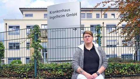 """""""Es geht um Menschen, nicht um Zahlen."""" Stefanie Klemann hofft auf ein Umdenken im Gesundheitswesen. Foto: Thomas Schmidt"""