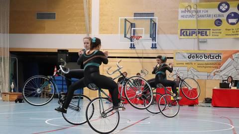 Der Kunstrad-Vierer der TSG Flonheim wurde in den erweiterten Nationalkader des Bundes Deutscher Radfahrer berufen. Archivfoto: Winfried Wolf