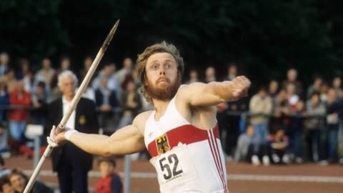 Rückblick auf eine Zeit als Weltklasse-Athlet: Guido Kratschmer beim Speerwurf. Foto: imago