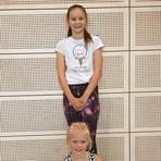 Marta Zagere (unten) und Tatjana Mrozek werden als neue Solistinnen starten. Wahrscheinlich können ihre Eltern nicht dabei sein. Foto: Silvia Müller
