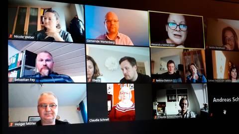 Die letzte Mitgliederversammlung fand online statt. Foto: Gemeinde Wartenberg