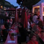 In der einsetzenden Dämmerung leuchtet Assmannshausen am schönsten in rot.Foto: Thorsten Stötzer  Foto: Thorsten Stötzer