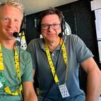 Das ARD-Team für die Tour de France: Florian Naß mit dem Ex-Profi Fabian Wegmann (links). Foto: ARD
