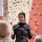 Anna-Lena Würsch bietet mit ihrer Kletterpartnerin Heike Schäfer Kletterkurse für Menschen mit Handicap an. Zurzeit sind die Hallen allerdings corona-bedingt geschlossen. Foto: Laura Schröder