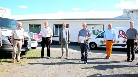 Die Alsfelder Tafel freut sich über eine Spende der Stiftung der Sparasse Oberhessen in der Coronakrise. Foto: Sparkasse Oberhessen