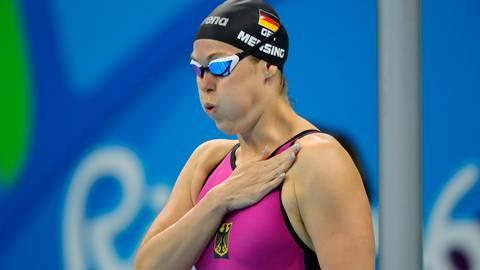 Ein Bild von Rio 2016. Jenny Mensing möchte aber noch einmal ins olympische Becken springen. Archivfoto: dpa