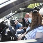 Der Mund-Nase-Schutz ist bei Fahrstunden Pflicht, empfohlen wird auch regelmäßiges Lüften.  Foto: Guido Schiek