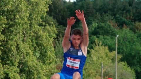 Oliver Koletzko (Wiesbadener LV) verfehlt bei den Männern mit seinen 7,68 Metern um einen Zentimeter den Meeting-Rekord aus dem vergangenen Jahr.  Foto: Jessen