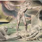 """Das Aquarell """"Satan schüttet die Plagen über Hiob aus"""" aus William Blakes Illustrationen zum Buch Hiob. Foto: gemeinfrei"""