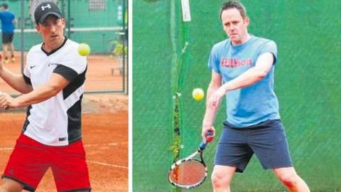 Blicken zuversichtlich auf die neue Runde: Jonas Weber (l.) vom TC Weilmünster und Thomas Beck vom TC Weilburg. Fotos: Manuel Kapp