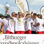 Die Wormser Spieler feiern ihren Sieg im Verbandspokalfinale 2018. Foto: Christine Dirigo