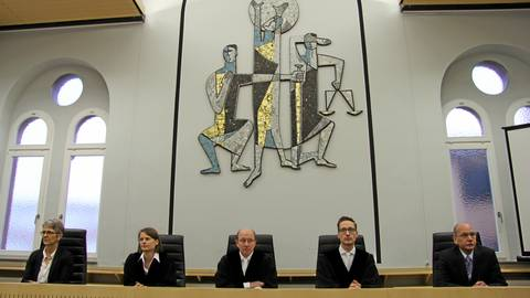 Erneut hatte das Schwurgericht unter Vorsitz von Andreas Janisch (M.) viele Zeugen zu befragen.  Foto: Gross