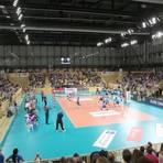 Volleyball-Bundesliga soll es ab Herbst wieder in der Halle am Platz der Deutschen Einheit geben. Ob der VC Wiesbaden freilich dazu Zuschauer begrüßen kann, ist derzeit fraglich. Archivfoto: Gottwald