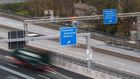 Die Schiersteiner Brücke. Foto: dpa