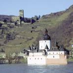 Die Zollburg Pfalzgrafenstein. Foto: GDKE Rheinland-Pfalz