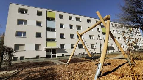 Einzugsbereit sind die Wohnungen in den neugebauten Häusern der GWH im Wickopweg. Foto: Andreas Kelm
