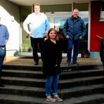 Der neue Ortsbeirat von Mornshausen hat sich konstituiert (von links): Christoph Klotz, Manfred Hetche, Anna-Katharina Rau, Jens Rühl und Michael Franz. Foto: Sascha Valentin