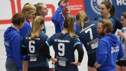 Die Zweitliga-Volleyballerinnen des VC Wiesbaden haben beste Chancen, die Runde als Zweiter zu beenden. Archivfoto: rscp/Frank Heinen