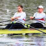 Schlagmann Marc Weber (l.) und Stephan Krüger nehmen Kurs auf die Olympischen Ruderwettbewerbe in Tokio. Foto: DRV/Seyb