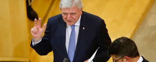 Volker Bouffier bei der Vereidigung zum hessischen Ministerpräsidenten. Foto: Lukas Görlach