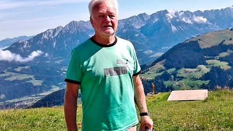 Alwin Lomp im Urlaub in Elmau am Wilden Kaiser.  Foto: Lomp