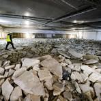 Die Mainzer Reingoldhalle ist nach wie vor eine riesige Baustelle. Im großen Saal wurden Parkett und Estrich nun doch komplett entfernt und sollen erneuert werden. Foto: Sascha Kopp