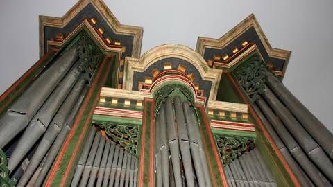 Die Wagner-Orgel von 1621 in der evangelischen Kirche von Rodenbach ist die älteste spielbare Orgel im Bereich der Landeskirche EKHN.