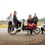 Mit dem Lastenrad zum Endverbraucher: Das Team von Lieferrad-DA hat mithilfe des Mittelstand 4.0 Kompetenzzentrums seinen Auftritt auf Instagram optimiert. Foto: HDA/Samira Schulz