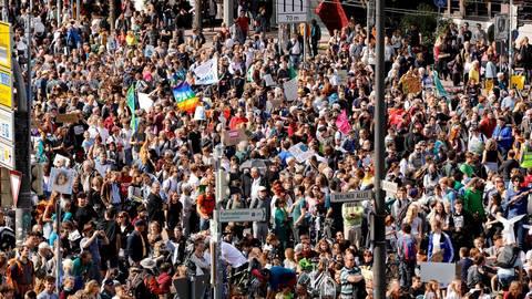 Mehr als 10.000 gingen im September 2019 bei der Darmstädter Klimaschutz-Demo auf die Straße. Archivfoto: Andreas Kelm