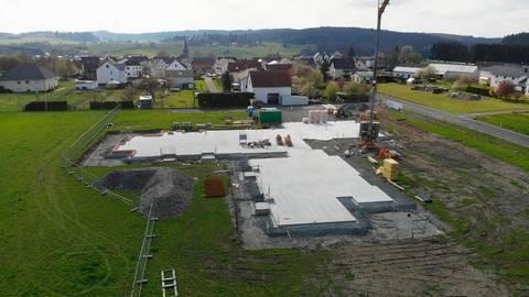 Die neue Kindertagesstätte in Altenkirchen nimmt allmählich Formen an.  Foto: Pascal Reeber