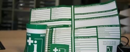 Die Notfalldose rettet Leben. Foto: Pressestelle Gemeinde Kriftel