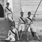 Vier für Princeton in Athen (von links): Francis Lane, Robert Garrett und Albert Tyler. Nicht im Bildausschnitt ist Herbert Jamison. Foto: gemeinfrei