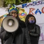 Die 22-jährige Mainzer Studentin Perla Londole ist in Deutschland innerhalb kurzer Zeit zum Gesicht der Proteste gegen Rassismus und Polizeigewalt geworden. Foto: hbz / Stefan Sämmer