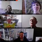 Bei einer virtuellen Sitzung berät sich der HTTV-Vorstand und vertagt schließlich die Umstellung auf Viererteams. Screenshot: Rolf Schäfer
