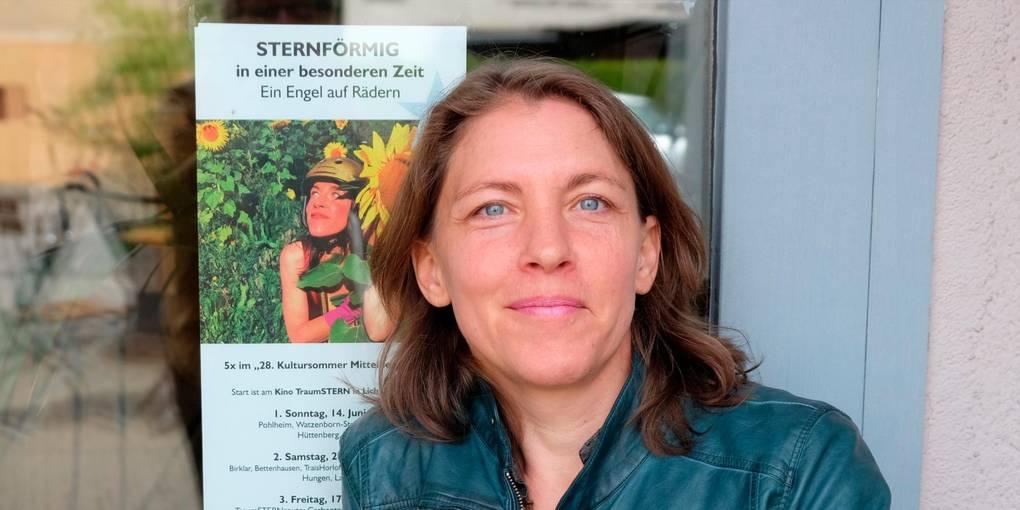 """Als """"Engel auf Rädern"""" bald unterwegs, um den Kontakt mit den Menschen in der Region zu suchen: die Licherin Karla Katja Leisen. Foto: Ursula Hahn-Grimm"""