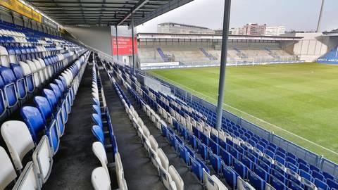 Blick in die Brita-Arena. Foto: Sascha Kopp