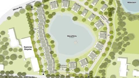 Ein Häuserriegel in der Hauptwindrichtung von Westen: Der Naturschutzbeirat der Stadt zweifelt in seiner Stellungnahme an, dass dies keine Auswirkungen auf die Umwälzung des Teichwassers haben soll. Allerdings, so die Stadt, hat der Naturschutzbeirat nicht viel Gewicht.
