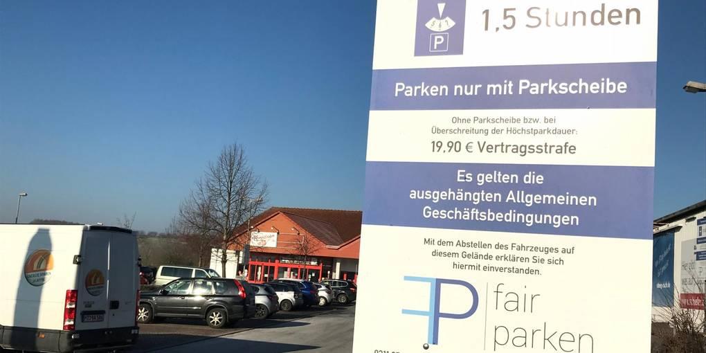 Penny Parkplatz Strafzettel