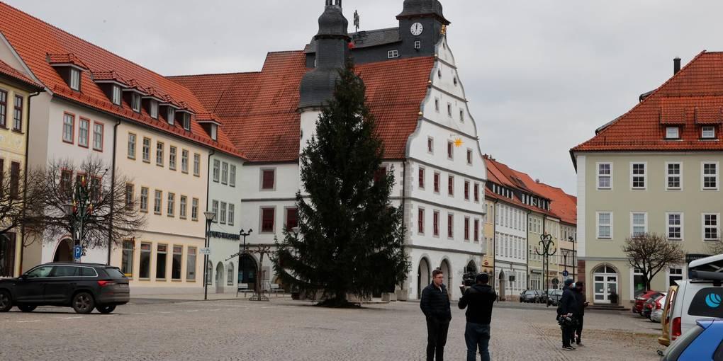 Dans les districts de l'Allemagne de l'Est tels que Hildburghausen en Thuringe, le nombre de cas de virus a explosé - une indication du comportement électoral? Photo: dpa