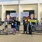 """Die Angestellten des Zentrallagers demonstrieren für den Erhalt ihrer Arbeitsplätze und kritisieren die """"Hinhalte-Taktik"""" von Edeka. Foto: Mitarbeiter Edeka-Zentrallager"""