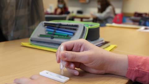 Die Klassenlehrer der Schulen im Landkreis Mainz-Bingen leiten die Testung an und behalten die Schüler im Blick – vor allem, wenn ein Test positiv ausfällt und ein Kind emotional überfordert sein sollte. Foto: dpa